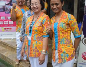 Nurses from Bidan Delima social franchise in Indonesia. Photo credit Radha Rajan, 2016, courtesy of Photoshare