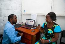 © 2014 SHOPS project. Description - A private provider counsels a client on family planning options.